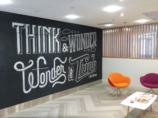 Chalk Wall In Nucleus Office   Dāvology: David English   Art Director /  Designer